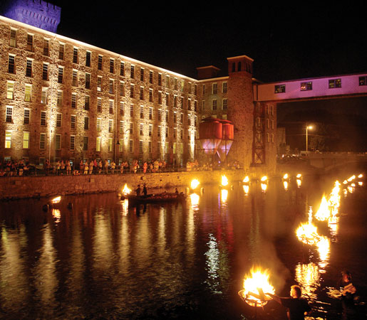 Waterfire at Royal Mills